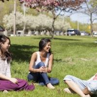EC - Students sitting outside