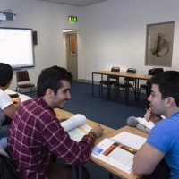 Students attending General English class