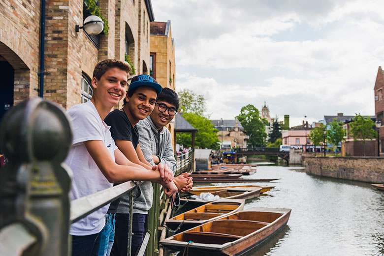 Students by the river Cam