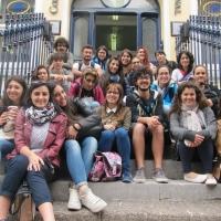Students outside school 2