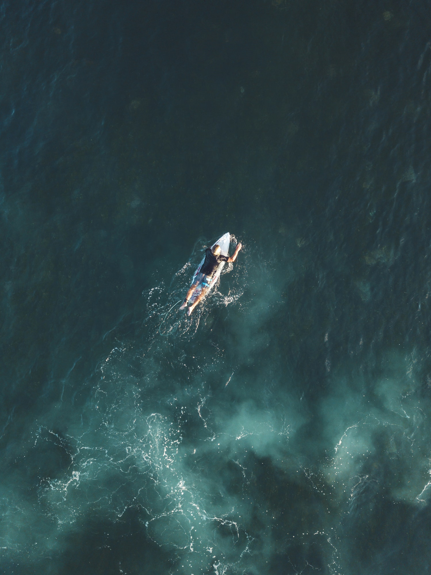 Aerial view of surfer,Bali,Indonesia